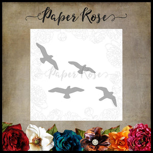 Paper Rose Die set - Flying Birds Small