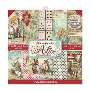 "Stamperia Paper Pack 8"" x 8"" - Alice"