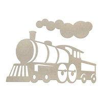 Couture Chipboard Set - Locomotive