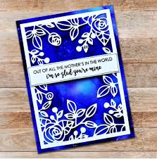Paper Rose Stamp set - Mothers Day Quote