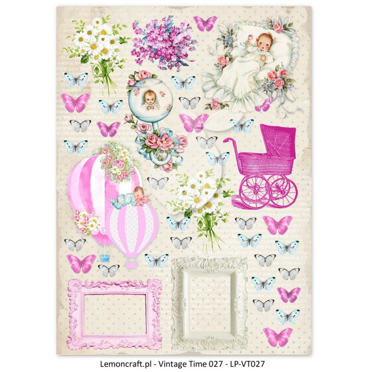 LemonCraft Cut Apart Sheet A4 - Lullaby Girl 027