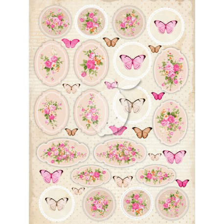 LemonCraft Cut Apart Sheet A4 - Vintage Time (029)