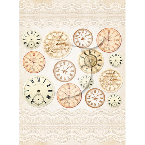LemonCraft A4 Cut Apart Sheet - Grow Old With Me Clocks