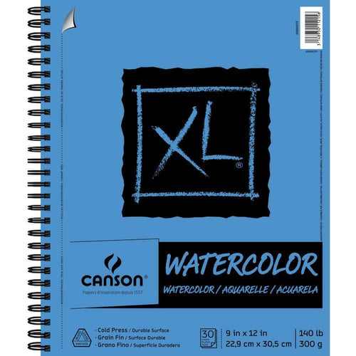 "Canson Watercolor Pad - 9"" x 12"" Bound 140lb"