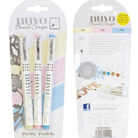 Nuvo Pens Brush Script - Pretty Pastels