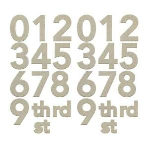 Couture Chipboard - Large Numbers