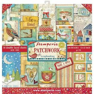 "Stamperia Paper Pack 12"" x 12"" - Patchwork"