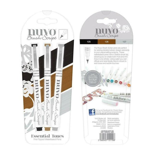 Nuvo Pens Brush Script - Essential Tones
