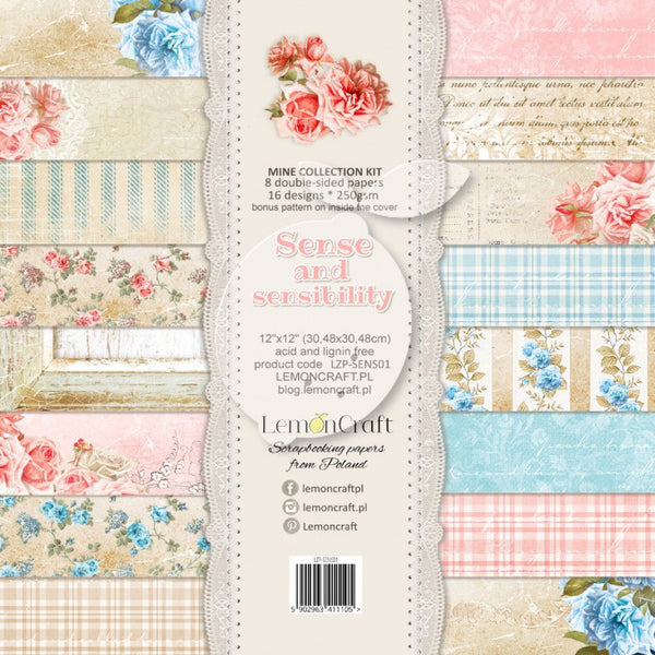 "LemonCraft Paper Pad 12"" x 12"" - Sense and Sensibility Collection"
