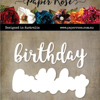 Paper Rose Die set - Birthday Layered Word