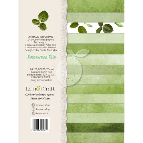 LemonCraft Paper Pad A4 - Basic Leaves 03