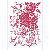 Stamperia Stencil A4 - 7 Floral Ramage