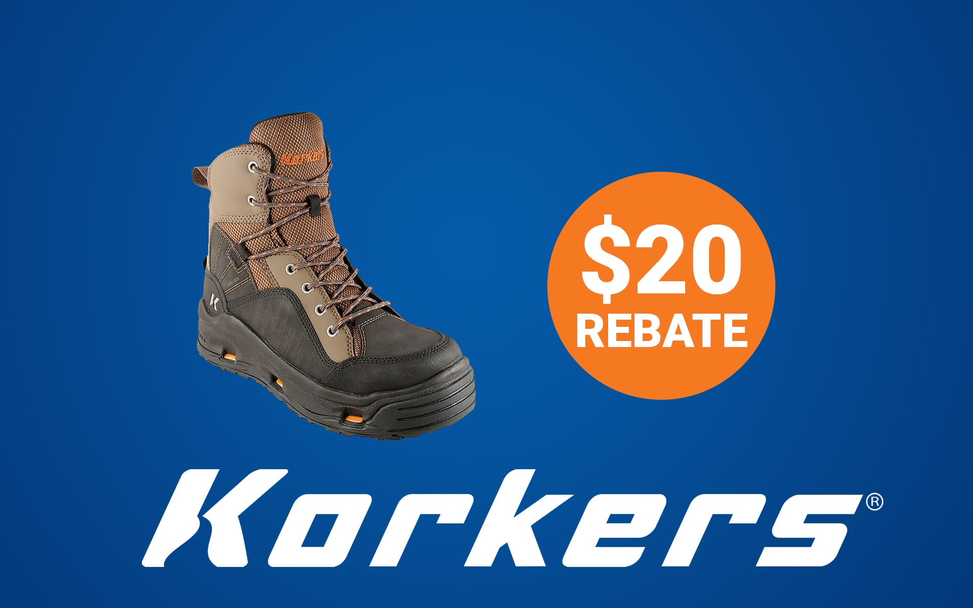 Korkers Rebate: $20 back for the month of March 2019