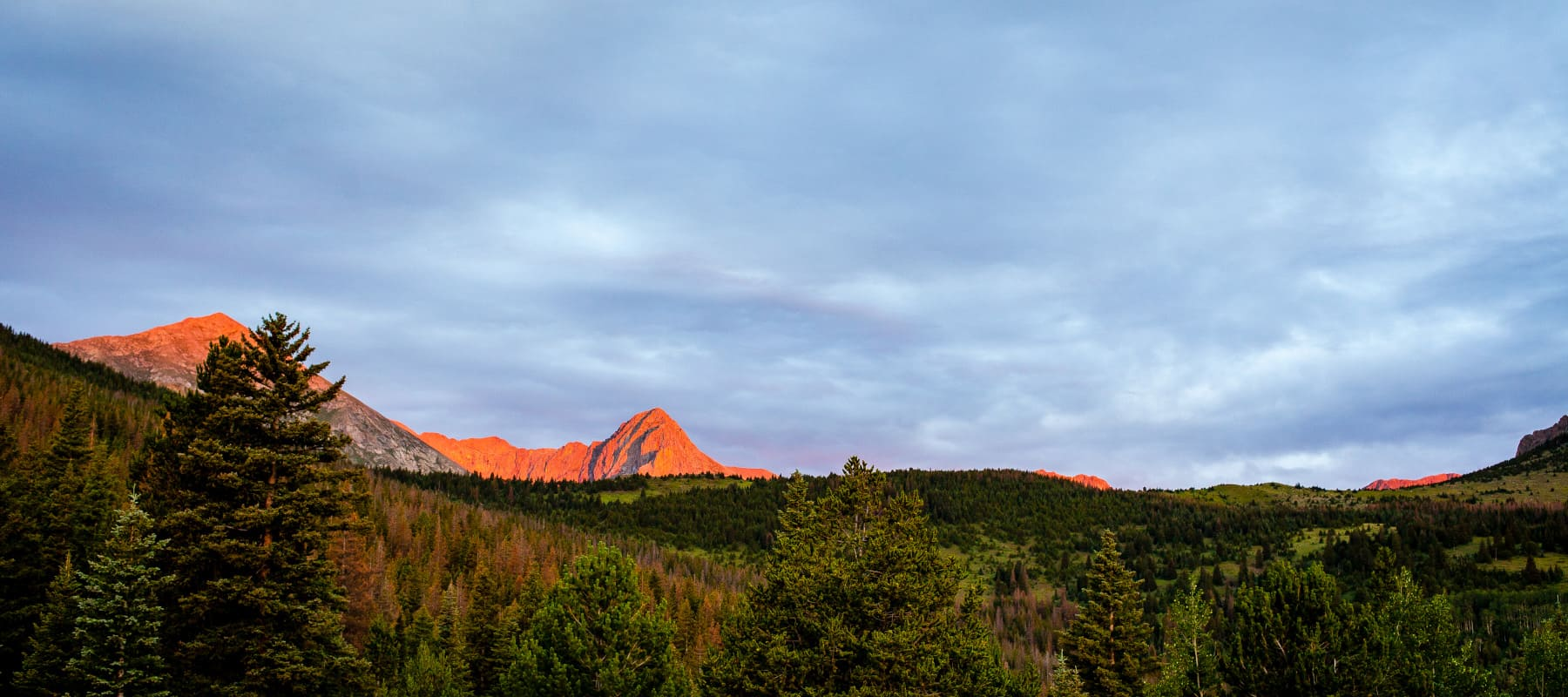 The mountains of Colorado that surround Black Hawk at Sunrise are Stunning