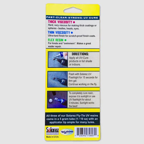 Solarez Fly Tying UV Resin 3 Pack – basin + bend