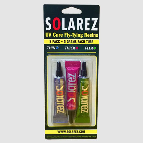 Solarez Fly Tying UV Resin 3 Pack Front