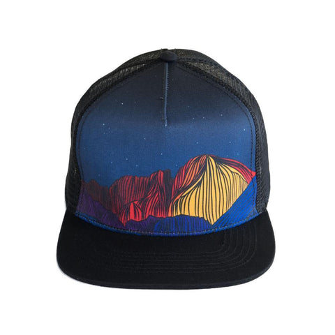 90 Left Ninety Left Longs Peak Trucker Hat Front