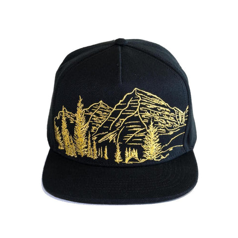 90 Left Ninety Left Maroon Bells Embroidered Trucker Hat Front