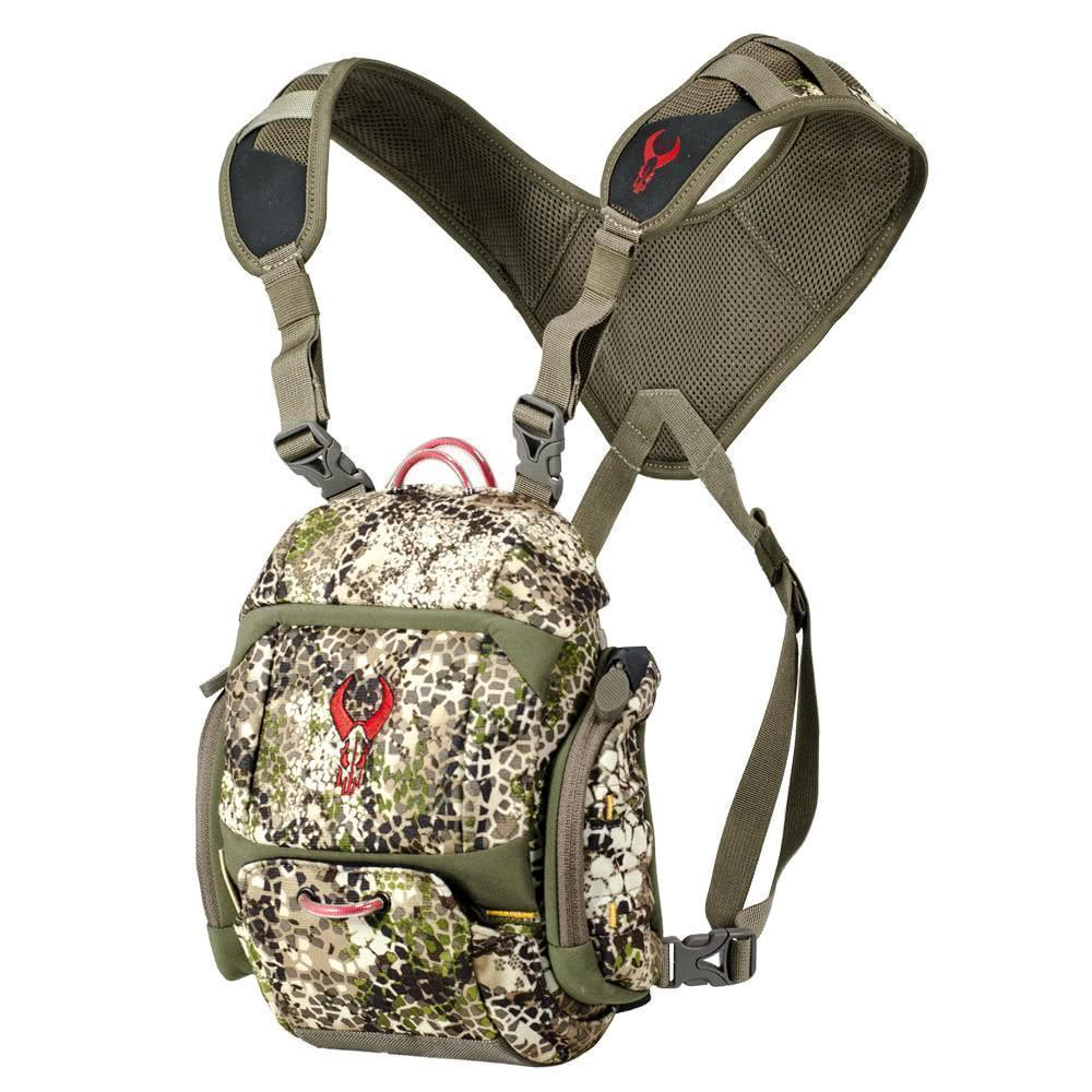 Badlands XR Bino Harness Pack Front With Straps Approach Camo