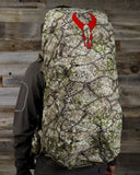 Badlands Pack Rain Cover Approach Wearing Deployed Back