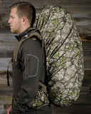 Badlands Pack Rain Cover Approach Wearing Deployed Left Side