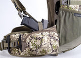 Badlands Packs Dash Hunting Pack Left Holster Detail Approach Camo