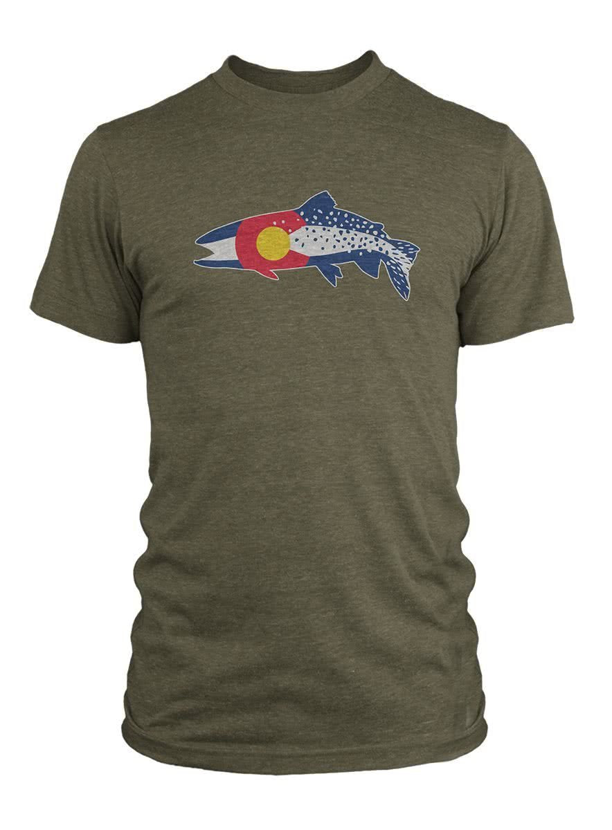 COCL91 RepYourWater Colorado Clarkii T-Shirt Green Front