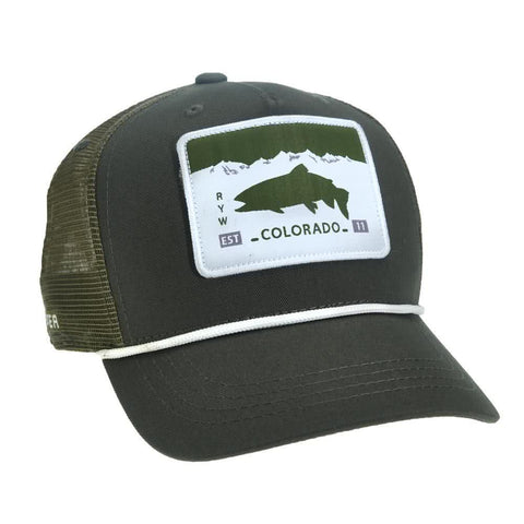 COLP51 RepYourWater Colorado License Plate 5 Panel Hat Green Green