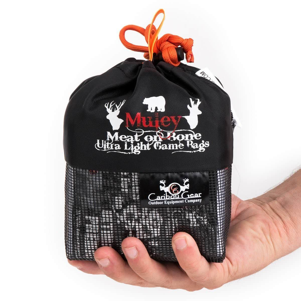 Caribou Gear Muley Meat On Bone Ultra Light 5 Piece Game Bag Set in Hand