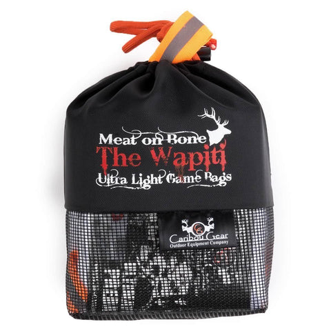 Caribou Gear Wapiti Elk Meat On Bone Ultra Light 5-Piece Game Bag Set Hero