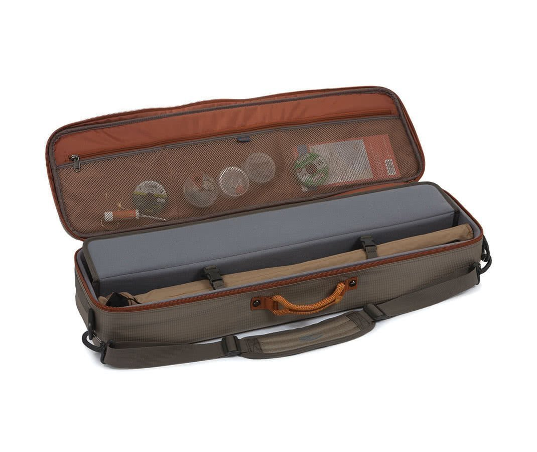 Fishpond Dakota Carry On Rod And Reel Case Open Lid Closed