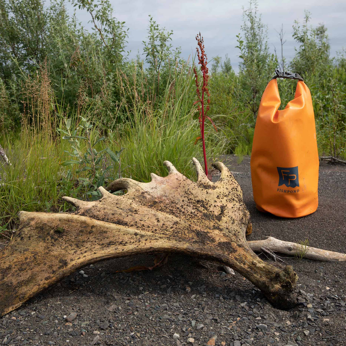 Fishpond Thunderhead Roll Top Dry Bag Cutthroat Orange With Moose Shed