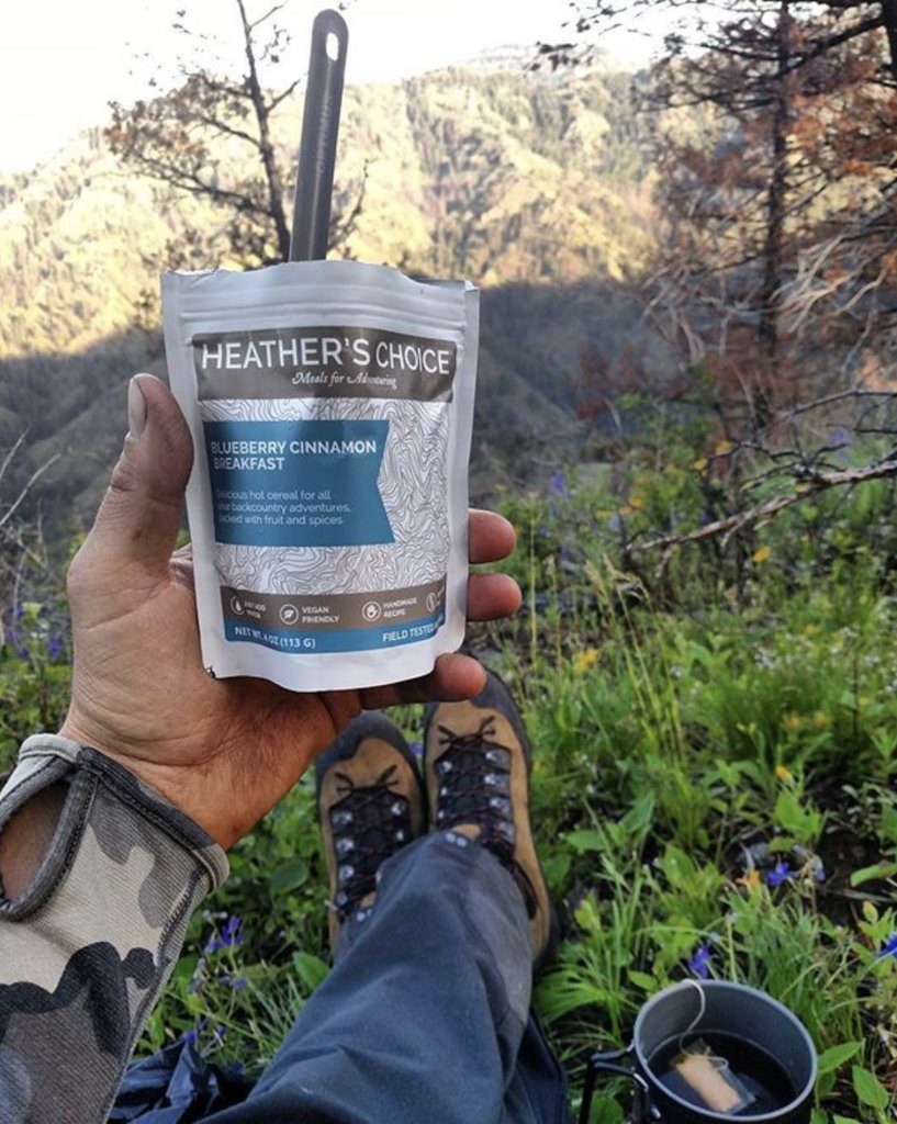 Heather's Choice Blueberry Cinnamon Buckwheat Breakfast Product In The Field