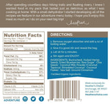 Heathers Choice Blueberry Cinnamon Buckwheat Breakfast Product Package Back