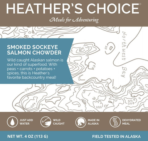 Heather's Choice Smoked Sockeye Salmon Chowder Package Front