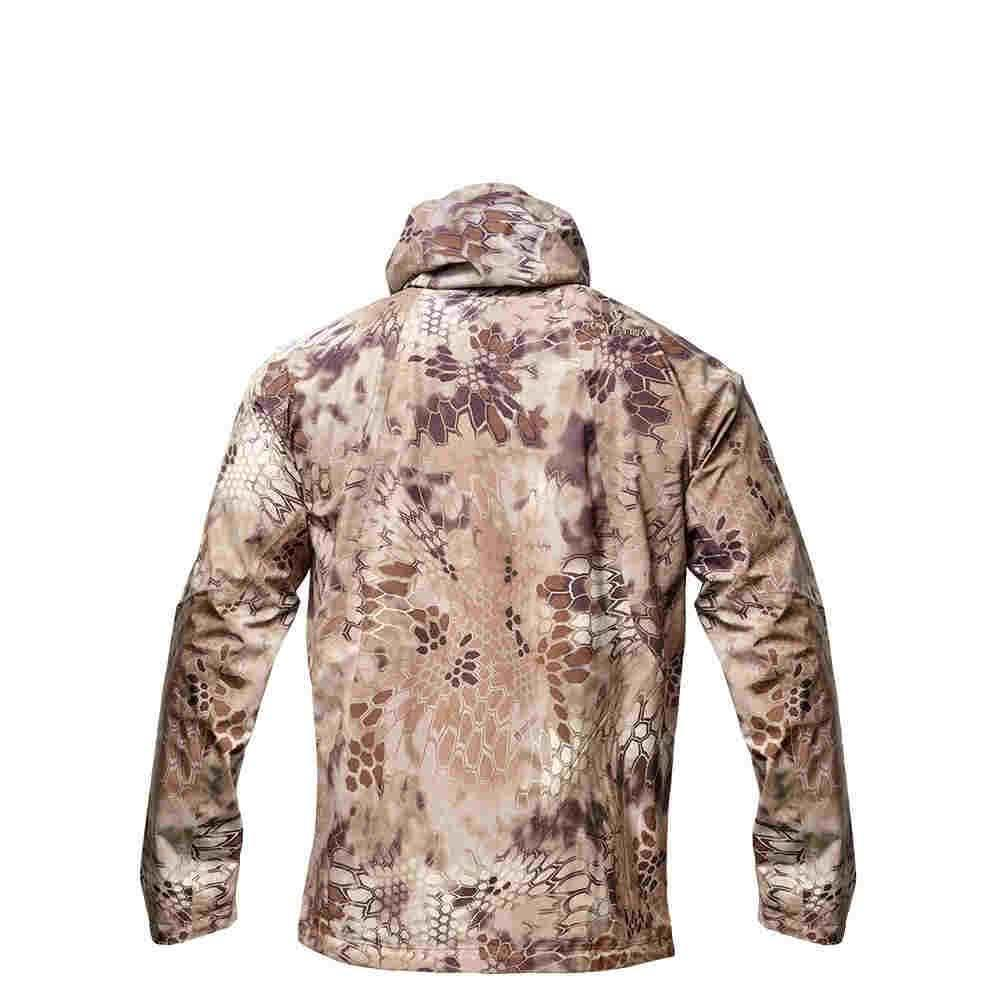 Kryptek Poseidon 2 II Rain Jacket Highlander Back