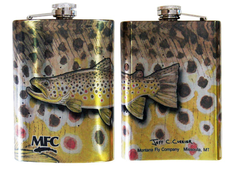 MFC Stainless Steel Hip Flask Currier's Brown