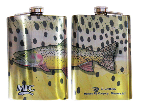 MFC Stainless Steel Hip Flask Currier's Snake River Cutty