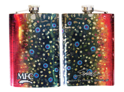 MFC Stainless Steel Hip Flask Sundell's Brook Trout Skin