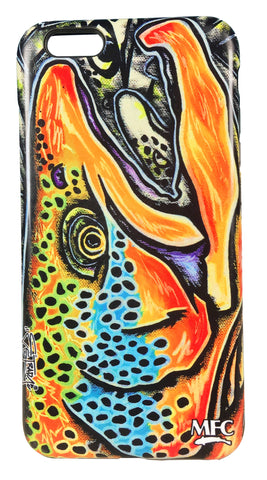 MFC iPhone 7 iPhone 8 Cover Estradas Brown Trout Graffiti