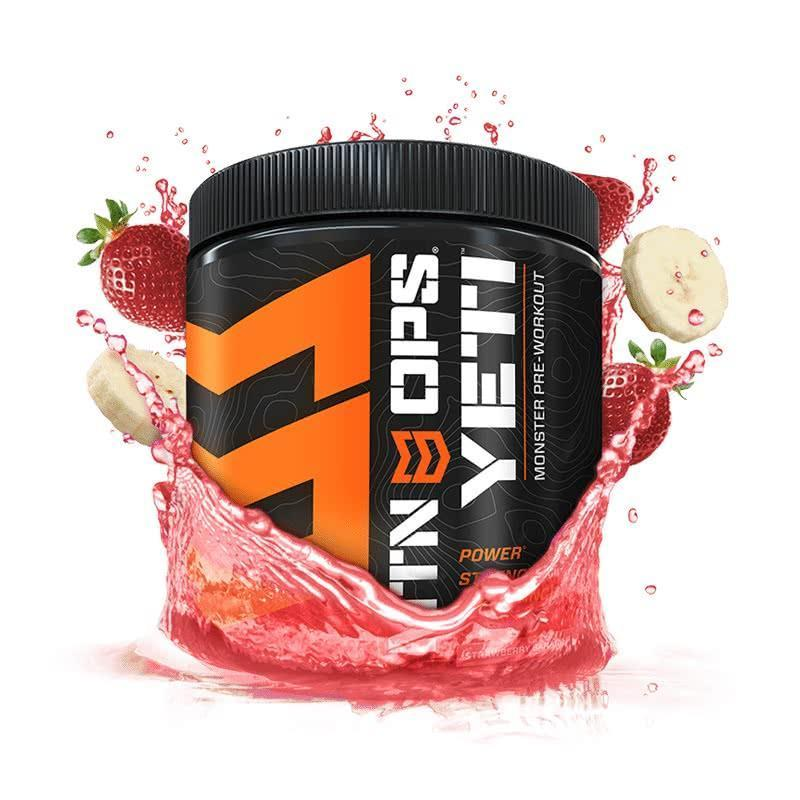 MTN OPS Yeti Pre Workout Strawberry Banana Splash