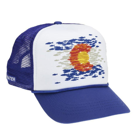 RepYourWater Colorado Flag Fish Mosaic Hat COMS51