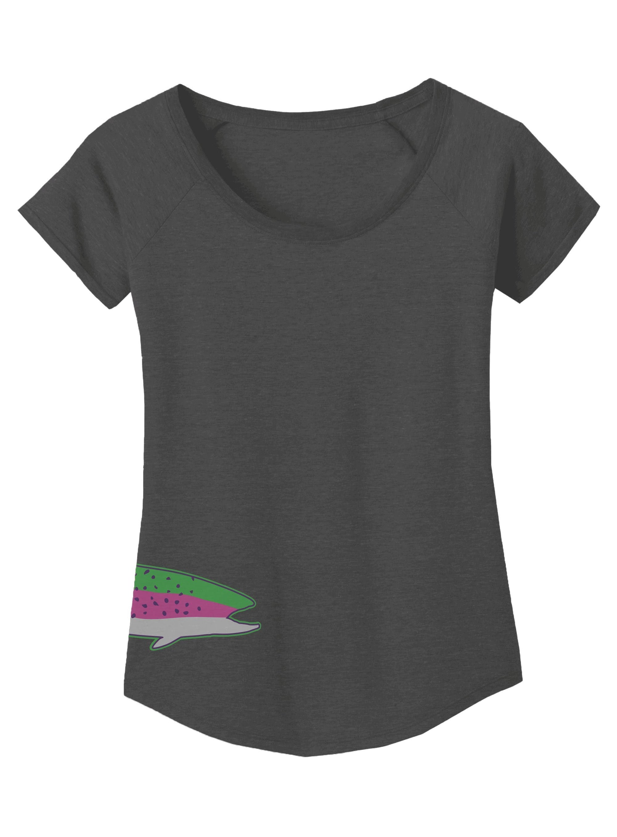 RepYourWater Womens Rainbow Trout Scoop Neck Tee Front