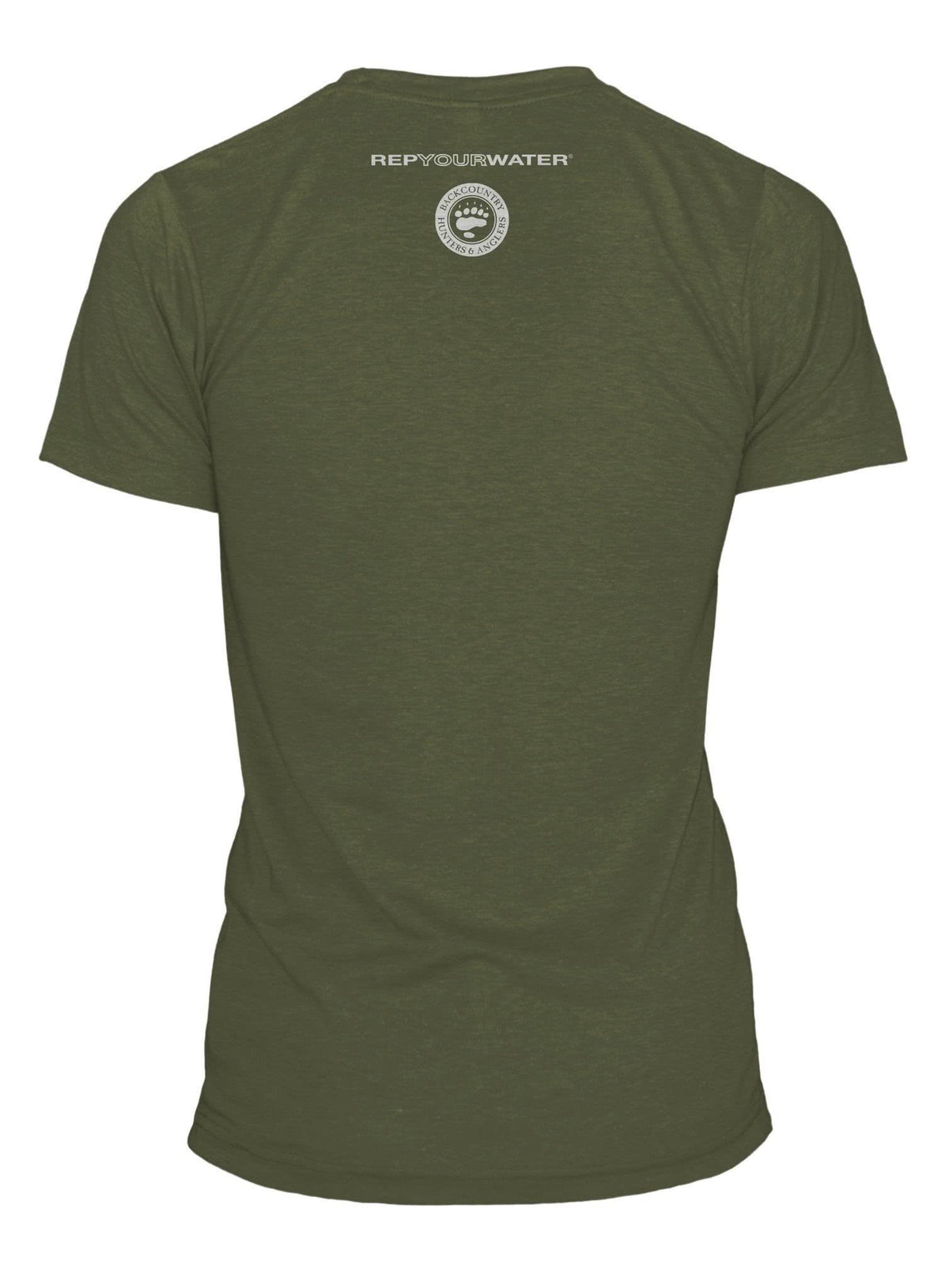 RepYourWater Backcountry Hunters Anglers Tee Back Green
