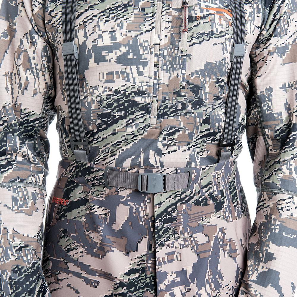 SITKA Gear Cloudburst Rain Jacket Optifade Open Country Suspender Detail