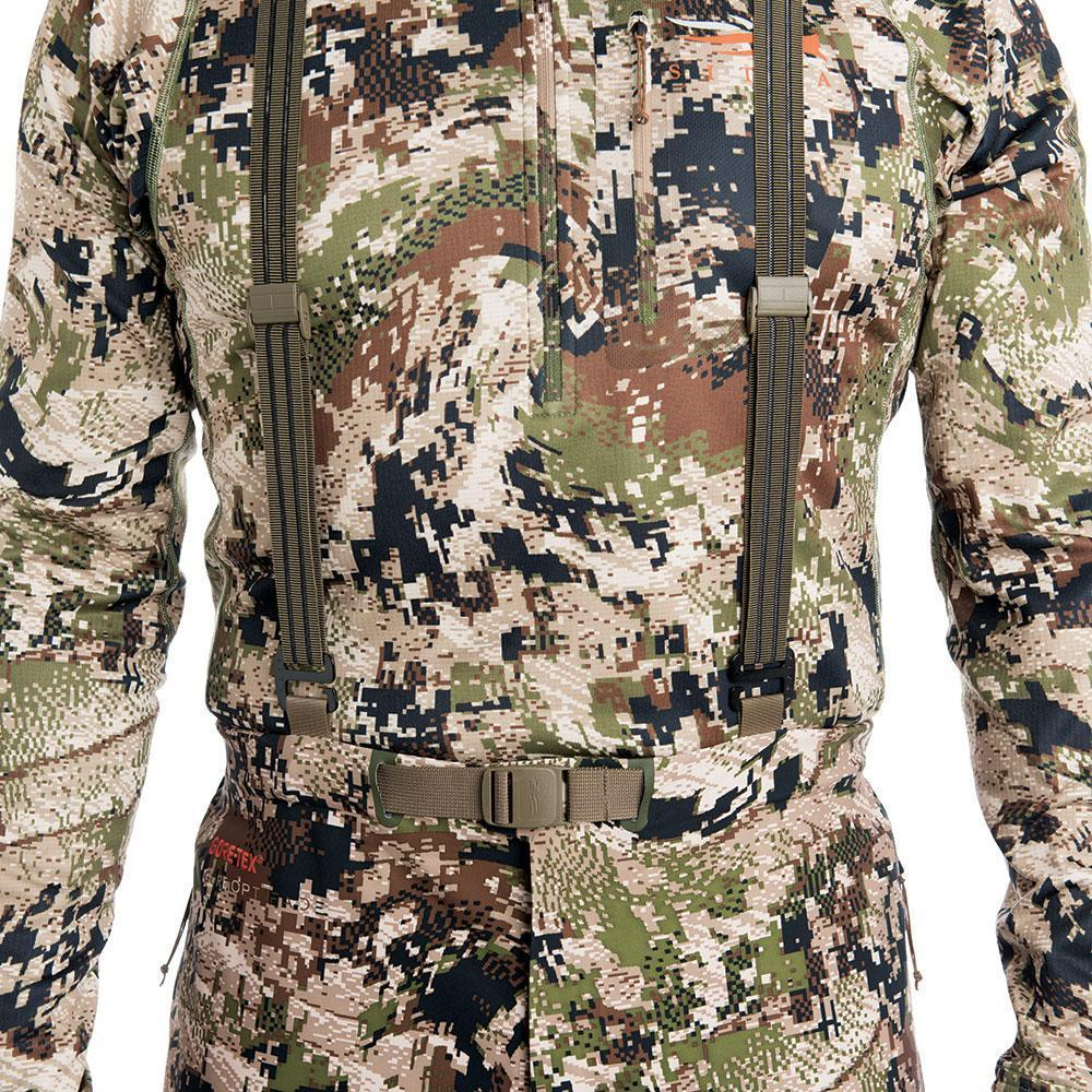 SITKA Gear Cloudburst Rain Jacket Optifade Subalpine Suspender Detail