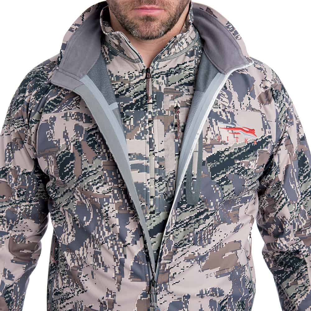 SITKA Gear Mountain Jacket Optifade Open Country Layered Detail