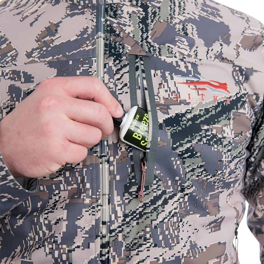 SITKA Gear Mountain Jacket Optifade Open Country Wind Checker Detail