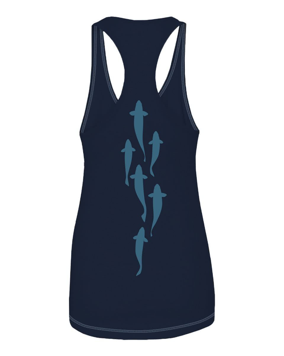 SWMS71 RepYourWater Swimming Spine Tank Navy Back