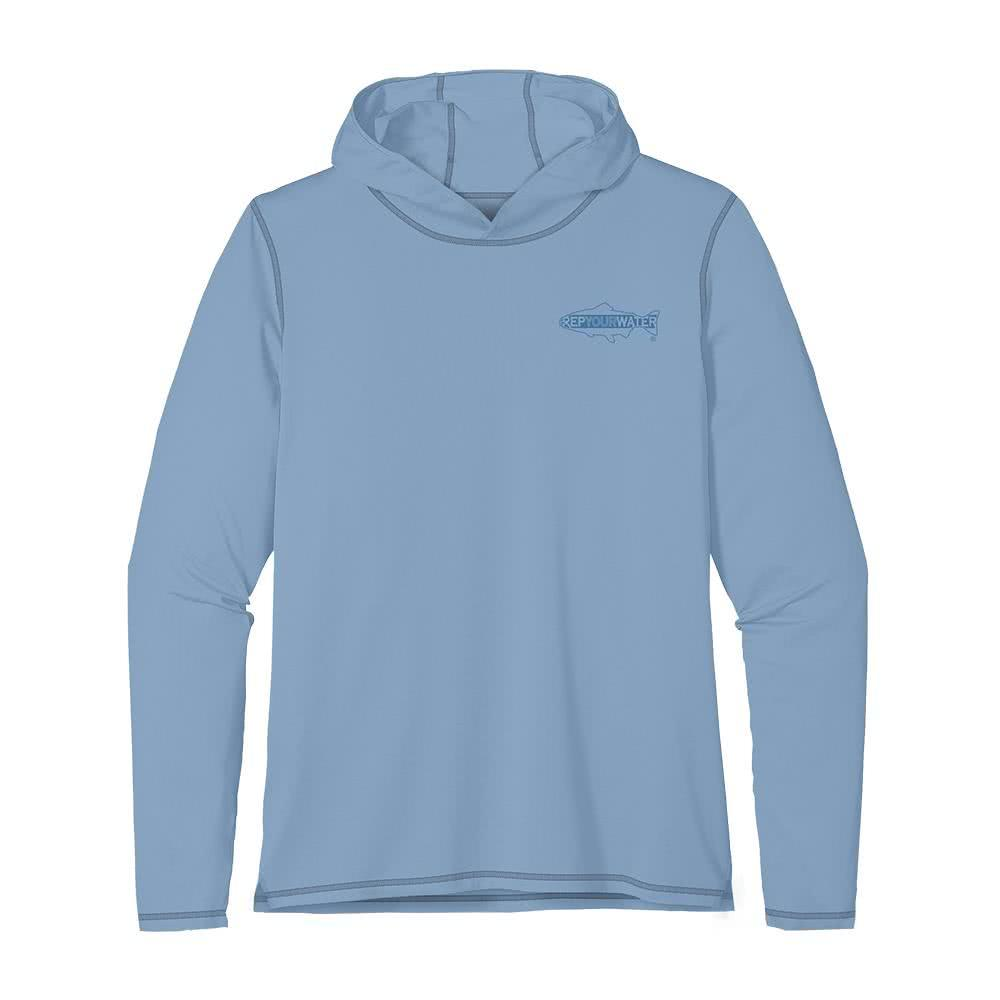 SWMS89 RepYourWater Swimming Spine Sun Hoody Wild Blue Front